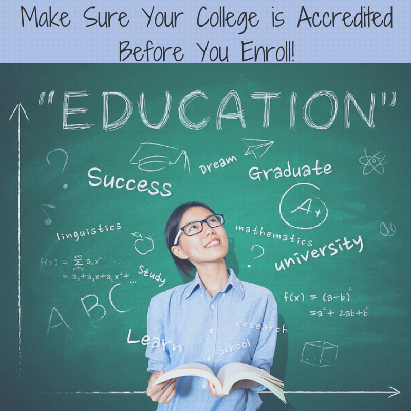 Make Sure Your College is Accredited
