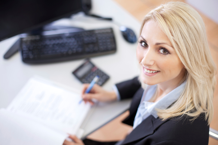 Female Accountant at Desk