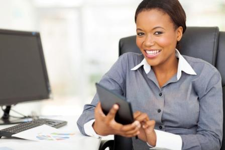 Business Woman at Computer
