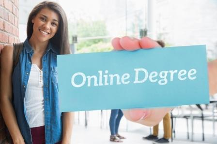 Student Earning Online Degree