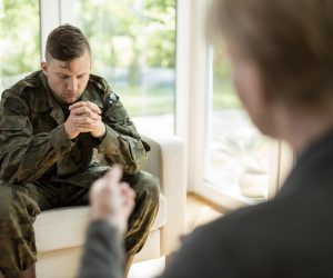 Military Person with Counselor