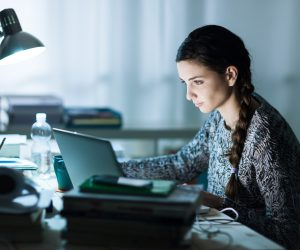 College Student Studying Online